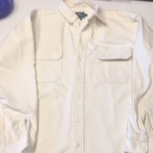 Woolrich  man's extra-large  cottoncream flannel,